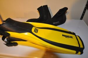 Swim fins and diving boots for sale