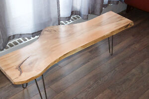 HAND CRAFTED LIVE EDGE SUGAR MAPLE COFFEE TABLE