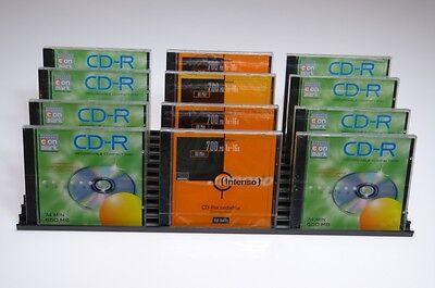 CD Aufbewahrung CD Blätter Flip für 33 CDs Schwarz