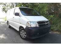 2009 09 Toyota Hiace 280 2.5 D-4D PANEL VAN 62K LOW MILES FSH 1 OWNER PLYLINED