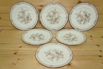 Noritake Imperial Garden 9720  6  Bread   Butter Plates  6 1 2