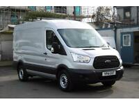 2014 FORD TRANSIT 310/155 L2H2 MWB DIESEL VAN IN SILVER WITH ONLY 48.000 MILES,A