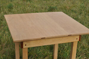 Handmade Maple and Jetoba Poker Table