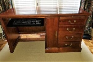 DESK - beautiful, solid wood, cherry stained by Stanley