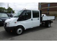 2014 FORD TRANSIT 350 DOUBLE CREW CAB ALLOY TIPPER WITH ONLY 43.000 MILES,6 SPEE