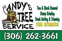 """""""SUMMER TREE CUTTING BY ANDYS TREE SERVICE"""""""