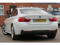 BMW 4 SERIES 2.0 420D M SPORT 2D 181 BHP DIESEL 2014 64 WHITE COUPE