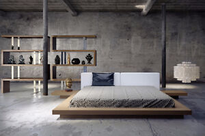 MODLOFT Worth Queen Bed and N/S