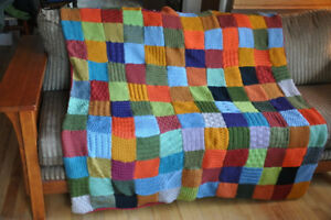LOCAL HANDMADE KNITTED THROW/BLANKET