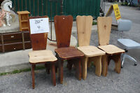 4 Solid Pine Chairs Wood Used Furniture Project Refinish Dining