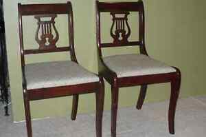 Lyre Back Dining Room Chairs