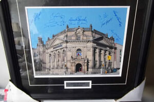 Hockey Hall Of Fame Framed Picture Autographed by 9 HOFers W/Coa