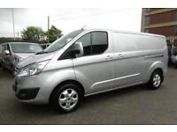 2015 FORD TRANSIT CUSTOM 290 LIMITED L2 H1 125 LWB IN METALLIC SILVER WITH AIR C