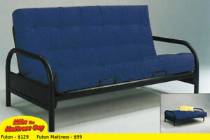 HUGE VARIETY OF STYLES & COLOURS OF FUTONS @ MIKES!!