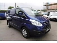 2014 FORD TRANSIT CUSTOM 270/155 LIMITED SWB IN MIDNIGHT SKY BLUE WITH ONLY 37.0