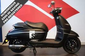 2016 66 PEUGEOT DJANGO 125 S MAD BLACK, BRAND NEW, PRE REGISTERED VESPA STYLE