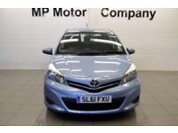 2011 61 TOYOTA YARIS 1.3 VVT-I TR 5D 98 BHP (TOUCH AND GO) SAT NAV, 5DR HATCH,