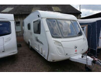 2009 SWIFT CHARISMA 570 6 BERTH CARAVAN - FIXED DOUBLE BUNKS - CENTRE DINETTE -