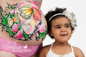 Belly Painting / maquillage bedaine Saint-Hyacinthe Québec image 3