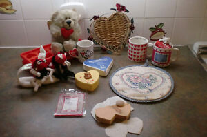 VALENTINE'S BEAR, MUGS, COOKIE CUTTER ETC.