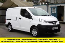 2014 NISSAN NV200 1.5 DCI ACENTA DIESEL VAN WITH ONLY 31.000 MILES,FULL SERVICE