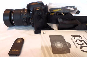 Nikon D50 with VR 18-55mm, nikon remote and more. Excellent cond