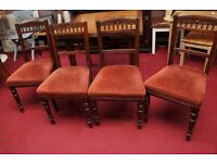 FURTHER REDUCTION!! Edwardian Dining Table and 4 Chairs - Can Deliver For £19