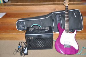 PEAVEY RAPTOR PLUS electric guitar!!With VOX Amp cords and case!