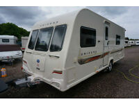 2012 BAILEY UNICORN CADIZ 4 BERTH CARAVAN - FIXED SINGLES - END WASH AUTO MOVER