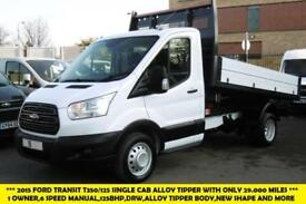 2015 FORD TRANSIT 350/125 SINGLE CREW CAB ALLOY TIPPER WITH ONLY 31.000 MILES T