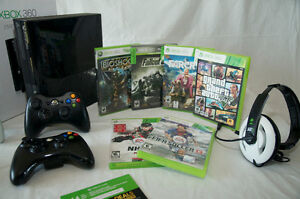Xbox 360 + Games, Controllers, Head Set & 14 Days Online Play
