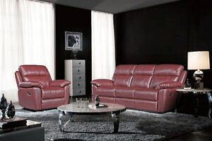 Brand new genuine leather recliner sofa and loveseat $2398 only!
