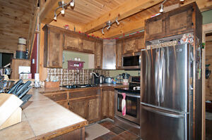Log home, 48 acres, fenced in area with paddock