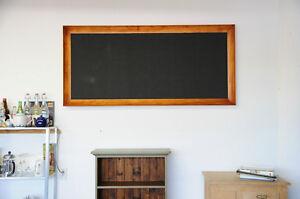 Tableau noir style ardoise d'école