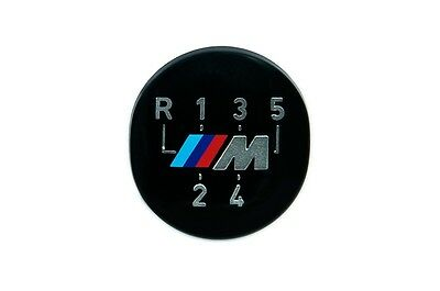 BMW Genuine M 5-Speed Gear Knob Badge Emblem Black E36 3 Series 25111221613