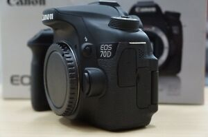 mint canon EOS 70D dslr body with charger