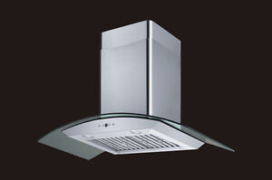 Curved Glass Hood - Powerfull and Quiet - 720 CFM