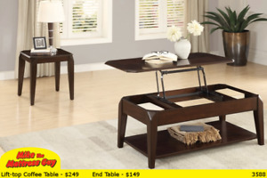 MULTI-FUNCTIONAL COFFEE TABLES - LOTS OF STYLES AT MIKE'S!