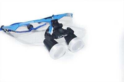 High-end Blue Dental Surgical Medical Binocular Loupes 3.5x 420mm Optical Glass
