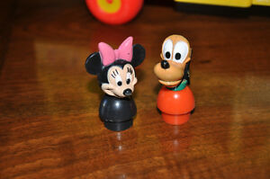 RARE VINTAGE DISNEY FISHER PRICE LITTLE PEOPLE MINNIE PLUTO