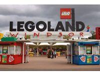 2x Legoland tickets - Saturday 10th September