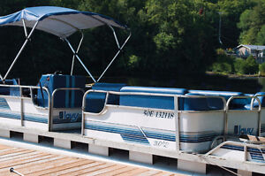 26' Lavy Pontoon boat with 60 hp