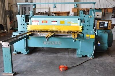 1985 Wysong 638 38 X 6 15 Hp 50 Spm Mechanical Power Squaring Shear