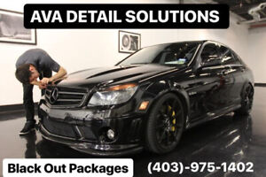 VINYL WRAP-CAR WRAPPING-BLACK OUT PACKAGES