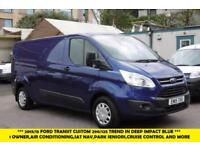2015 FORD TRANSIT CUSTOM 290 TREND L2H1 LWB IN DEEP IMPACT BLUE WITH AIR CONDITI