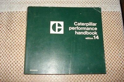 Cat Caterpillar Performance Handbook Edition 14 1983 Rare Manual