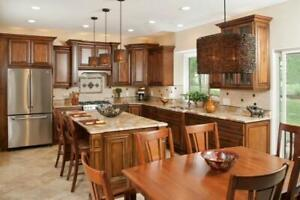 Cambridge style 10 x 10 wood kitchen - Financing available - $73 a month (OAC)