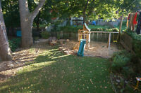 Large 5 1/2 with bachelor and huge yard in NDG
