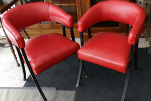 Retro red chairs $60 each plus taxes