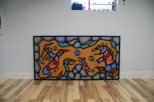 Norval Morrisseau, Thunderbird and Medicine Bear in underworld